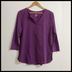 Van Heusen 3/4 sleeves purple tunic